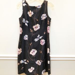 Ann Taylor Black/Floral Slip Dress